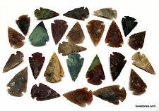 *** 53 pc lot flint arrowhead OH collection project spear points knife blade ***