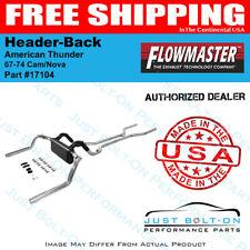 Flowmaster 67-74 Cam/Nova American Thunder Header-Back - Dual Rear Exit #17104