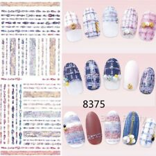 Nail Art Water Decals Sweater Snowflake Dot Nail Manicure Transfer Sticker