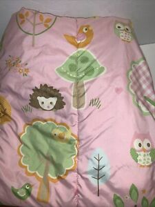 Circo Lovin Nature Pink Green Owl Forest Twin Size Comforter