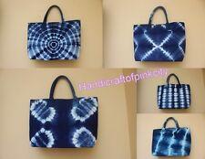 5 Pcs Wholesale Lot Hand Bags Women Tote Hand bags Shibori Indigo Handbag Shoppi