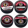 Chicago Blackhawks Reverse Retro 3D Textured Souvenir Hockey Pucks (4-Pack)