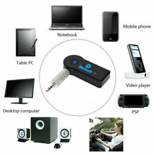 Wireless Bluetooth Receiver Transmitter Adapter For Car Music Aux 3.5mm Jack UK