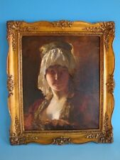1111A1-131: Gemälde Portrait Dame wohl nach Rubens wohl 19 Jhdt.
