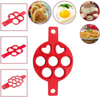 Kitchen Nonstick Pancake Maker Mould Silicone Omelette Egg Ring Mold Tool New