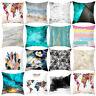 KE_ BL_ ALS_ CO_ AU_ Color Block Flower Map Pillow Cover Cushion Case Home Sof