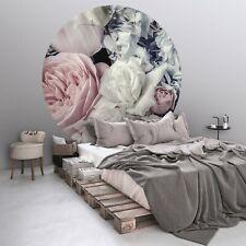 Vlies Fototapete RUND Blumen TAPETE XXL Schlafzimmer Pfingstrosen + KLEISTER