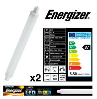 2x S15 5.5w (=50w) LED Strip Light Tube 284mm Frosted Opal(Energizer S9218)
