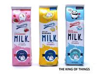 Milkshake Pencil Case Kids School Milk Stationary Colourful Childrens Novelty