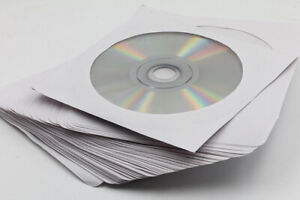 CD & DVD Sleeves, with Clear Center Window (50-pack)