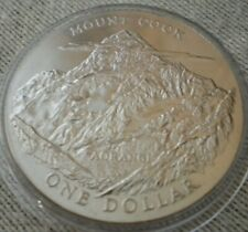 1970 HM THE QUEEN & PRINCE PHILIP MOUNT COOK NEW ZEALAND ONE DOLLAR CROWN COIN