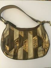 FOSSIL Genuine Leather Gold Tones Handbag