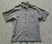 EUC Patagonia Men's Short Sleeve Button Down Cotton Shirt Size Large Color Gray