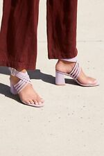 brand new b4c5c cc952 FREE PEOPLE  Lina Block Heel 38 Euro  7.5 US Pandemonium Purple New