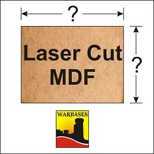 2mm Thick MDF PREMIER LASER CUT basi per DBA DBM 15 / 25MM scala WARGAMES