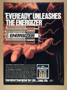 1980 Eveready ENERGIZER Batteries vintage print Ad