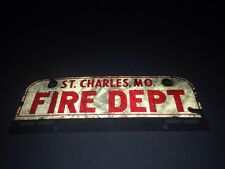 St Charles Missouri Fire Department License Plate Topper Reflective USED alumin