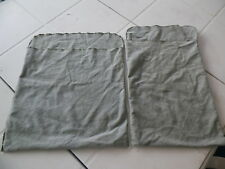 PAIR GUMP'S SILVER TARNISH RESISTANT GREEN FLAP POUCHES 14'' & 15.5''