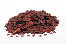 BURGUNDY Hearts Wedding Confetti Table Decoration Scatter Sprinkles