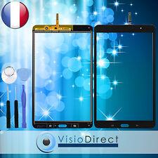 """Vitre ecran tactile pour Samsung Galaxy Tab Pro 8.4"""" T320 noir +adhésif +outils"""