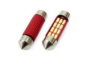 2 x Bombilla 12 LED 36mm tipo Festoon C5W CANBUS 12 / 24 V sin fallos centralita