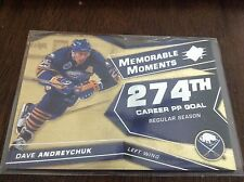 DAVE ANDREYCHUK 08/09 UD SPX MEMORABLE MOMENTS * BUFFALO SABRES