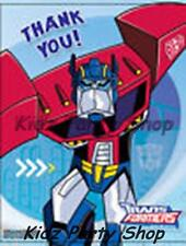 TRANSFORMERS - 30 THANK YOU CARDS + ENVELOPES - BIRTHDAY PARTY - FREE POST IN UK