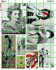 6011 DAVE'S DECALS MODERN STREET ART QUEEN ELIZABETH 2 PEOPLE  VERMEER GRAFFITI