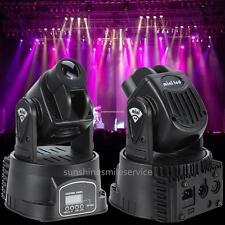 2X 15W 360°Jeu de Lumière LED Stage Mobile Lumineux DMX 512 DJ Laser Eclairage