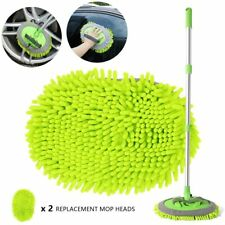 """Car Wash Brush Kits Mop Mitt with 45"""" Long Handle Car Cleaning Kit Supplies 2in1"""