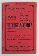 What To See Where To Go in Rome Italy and Abroad The Tourist's Vade Mecum 1914