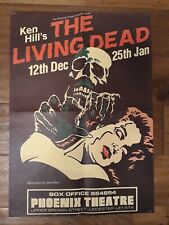 More details for the living dead theatre poster - phoenix leicester double sided 59cm x 42cm 1979