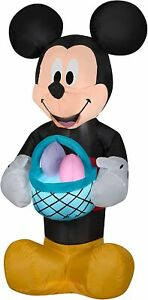 3.5' FT EASTER MICKEY MOUSE W/ BUNNY EGGS IN BASKET AIRBLOWN INFLATABLE YARD
