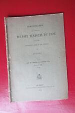 Démonstration en faveur du pouvoir temporel du pape Université Laval Québec 1889