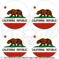 "CALIFORNIA State Bear USA America 50mm (2"") Vinyl Bumper Stickers, Decals x4"
