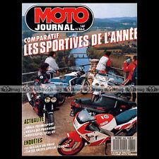 MOTO JOURNAL N°864 YAMAHA FZR 1000 HONDA VFR 750 R RC30 KAWASAKI GPX 600 WARBIRD