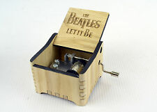 Personalized Hand Crank Wooden Music Box (The Beatles - Let It Be)