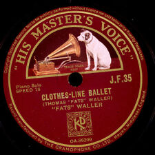 FATS WALLER -Piano-  Clothes-line ballet / Viper's Drag  Schellack 78rpm   X1369