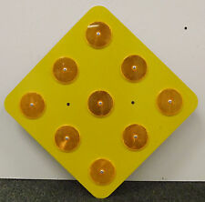 Yellow 9-Button Object Marker 18 x 18 - Road Sign - 10 Year 3M Warranty.