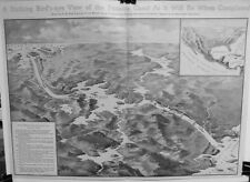 Bird's Eye View of the Panama Canal as it will be When Completed   -   1904