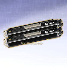 2PK Compatible Black Toner CE310A for HP CP1025 CP1025NW  MFP M175nw Printer