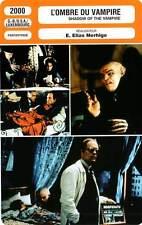 FICHE CINEMA : L'OMBRE DU VAMPIRE - Malkovich,Dafoe 2000 Shadow of the Vampire