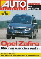 Opel Zafira Sonderdruck Auto Strassenverkehr 17/18/05 Test 2005 Testbericht Pkw