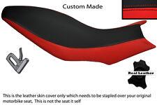 RED AND BLACK CUSTOM FITS APRILIA DORSODURO 750 1200 DUAL LEATHER SEAT COVER