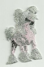 "2 1/8"" x 3 1/8"" Chinese Crested Dog Pink Body Breed Embroidery Patch"