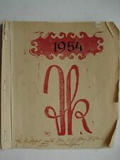 Teodorescu-piccolo Teschen Cieszyn Stoccarda calendario 1954 cene Tetschen Decin