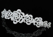 Bridal Wedding Vintage Style Rose Crystal Headband Tiara T1578