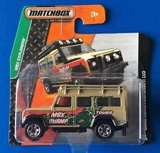 SHORT CARD 2015 Matchbox 1997 LAND ROVER DEFENDER 110 SWAMP TOURS mint on card!