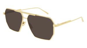Brand New Bottega Veneta Sunglasses BV1012S 003 Brown Gold Man Authentic