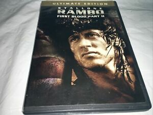 """Rambo - First Blood Pt. 2 DVD, """"Preowned"""",;Ultimate Edition, Sylvester Stallone."""